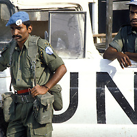 Two members of the Fijian contingent of UNIFIL in 1981.