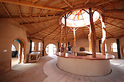Israel, Negev Desert, interior of an Ecological House built from mud and reused materials