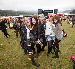 Fans in the main arena..Saturday at Rockness 2012..©Michael Schofield..