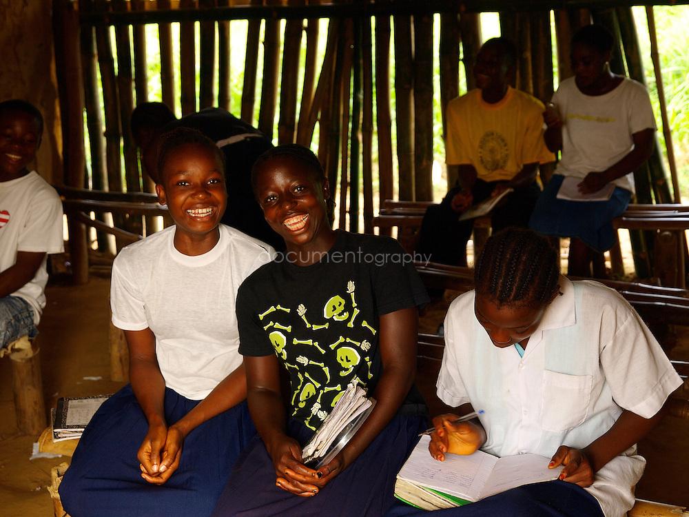 Pupils laughing at J.S. Varfley School, Kingsville #7, Liberia.