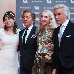 Red carpet at the Victoria &amp; Albert Museum for the opening of the &lsquo;The Glamour of Italian Fashion 1945-2014&rsquo; exhibition.<br /> In the photo: Valentino e Carla Sozzani