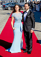 12-6-2015 STOCKHOLM -  Prince Carl Philip and Sofia Hellqvist  arrive at the S-S Stockholm to sail to Vaxholm Castle for a dinner before the wedding of Prince Carl Philip and Sofia Hellqvist . The wedding celebrations will begin on Friday June 12 with a private dinner for invited guests. COPYRIGHT ROBIN UTRECHT