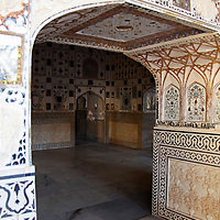 Asia, India, Amer. Arch at Amber Palace.