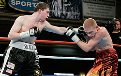 Undefeated prospect Dmitriy Salita (l) and Jeff Frankel (r) trade punches during their 10 round junior welterweight fight at the Manhattan Center in New York City.  Salita won the bout via 10 round unanimous decision.
