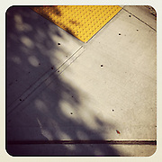 2016, Richard Walker, Seattle, WA, USA, Instagram, Apple, phone, iPhone, app, September, sidewalk, concrete, blind, angles, shadow,