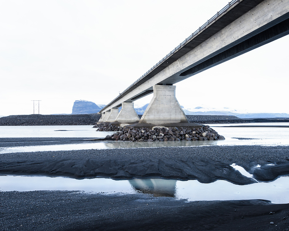 Bridge near Lómagnúpur , Iceland