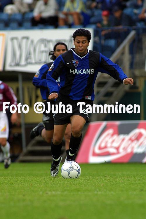 05.08.2001 Turku, Finland. Veikkausliiga, Inter  v RoPS. Richard Teberio (Inter)..©JUHA TAMMINEN