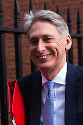 London, March 18th 2015. Members of the Cabinet gather at Downing street for their weekly meeting. PICTURED: Defence Secretary Philip Hammond