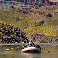 Approaching Bass camp on the Colorado river, mile 108.