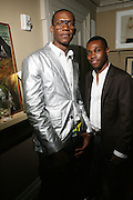 l to r: Alexander Allen and Merrell Hollins at The VIBE Magazine & Memsor Kamarake and Beverly Smith Salute to Black Men In Fashion ? NY Fashion Week Fall ?08 held Norwood on September 11, 2008