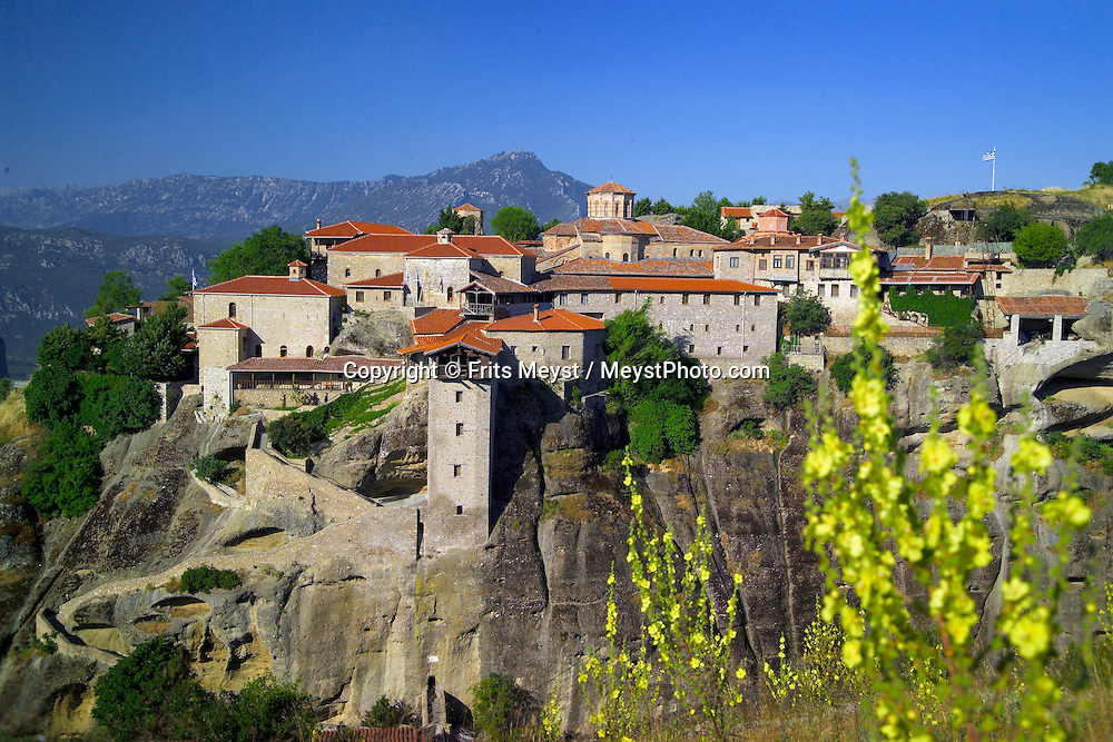 Kalambaka, Kastraki, Meteora, Greece, June 2006. The Great meteora monastery, better known as Metamorphosis. The Monastaries of Meteora can be found high on the steepest rocks, Photo by Frits Meyst/Adventure4ever.com
