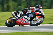 16 AUGUST 2009: AMA at Virginia international race way .Daytona sport bikes from Sundays rd2. Josh Herrin (No. 8 Team Graves Yamaha YZF-R6) won both sessions and earned the title of Big Kahuna for sweeping the weekend's races at Virginia International Raceway.