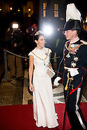 1-1-2016 - COPENHAGEN -  Prince Joachim and Princess Marie of Denmark arrive at the annual New Years reception in Amalienborg Palace in Copenhagen, Denmark, Danish royal family attend New Years reception 2016 COPYRIGHT ROBIN UTRECHT<br /> Prins Joachim en Prinses Marie van Denemarken aankomt op de jaarlijkse nieuwjaarsreceptie in Amalienborg in Kopenhagen, Denemarken, de Deense koninklijke familie wonen Nieuwjaarsreceptie 2016