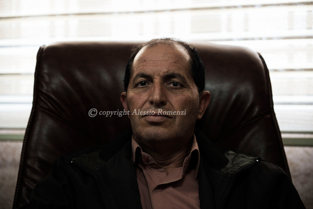 Libya, Misurata: Portrait of Ismail Shukri, intelligence chief in Misurata. Alessio Romenzi