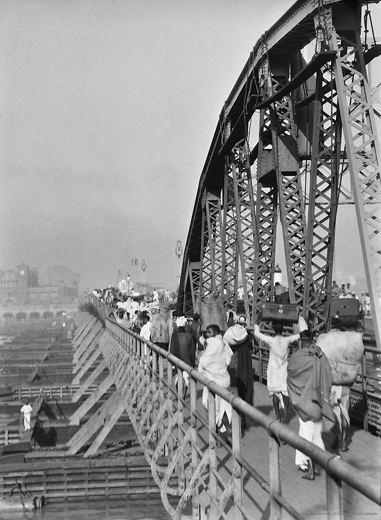 Howrah Bridge, Calcutta, India, 1929