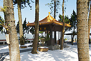 The Syuanzang Temple is a short distance from its more famous cousin the Syuanguang Temple, is quieter, and has equally awesome views of Sun Moon Lake.