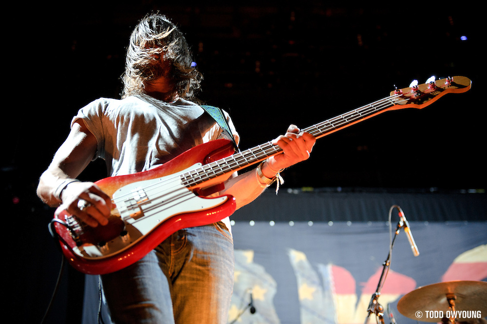 Photos of the Athens-based band The Whigs performing in support of Kings of Leon on September 25, 2010 in St. Louis, Missouri