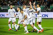 ROTTERDAM - Excelsior - Vitesse , Voetbal , Eredivisie , Seizoen 2015/2016 , Stadion Woudestein , 31-10-2015 , Vitesse viert de 1-0 van Vitesse speler Dominic Solanke (r) uit een penalty