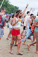 Body Paint and Painted Crop Top, Bonnaroo