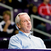UNC HEad coach Roy Williams watches James McAdoo # 14 Norfolk Christian, UNC Recruit