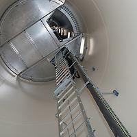 ladder inside wind turbine tower
