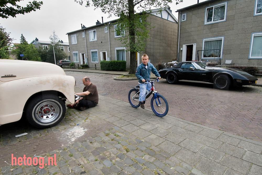 Straatbeeld in de wijk Velve-Lindenhof in Enschede. ....