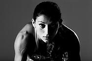 Sao Paulo, Brazil, May 29 of 2012: BRAZILIAN OLYMPIC ATHLETES: Ana Claudia Lemos, Guadalajara Panamerican Games gold medalist for the 200m during a photo shooting at a studio in Sao Paulo.  (Photo: Caio Guatelli)
