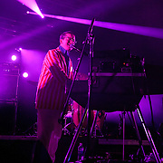 COLUMBIA, MD - July 22nd, 2012 - Alexis Taylor of Hot Chip performs at Merriweather Post Pavilion in Columbia, MD. The band released their fifth studio album, In Our Heads, in April.  (Photo by Kyle Gustafson/For The Washington Post)