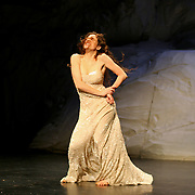 BERLIN - JANUARY 2007: Pina Bausch 'Rough Cut' performance on January 23, 2007 in Berlin, Germany. Bausch was a German performer, choreographer, teacher and ballet director.