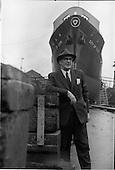 1964 - Mr. C.M. Grace, Palgrave Murphy Shipping Ltd., at the Liffey Dockyard