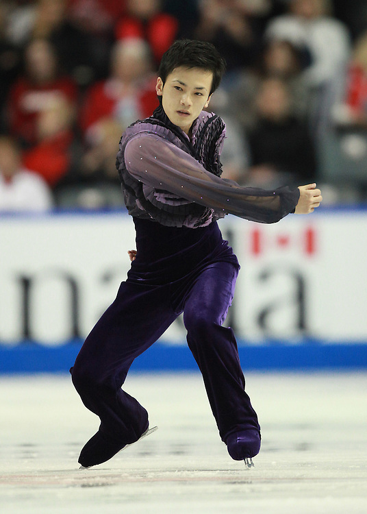 20101029 -- Kingston, Ontario --  Yasuharu Nanri of Japan skates his short program at Skate Canada International in Kingston, Ontario, Canada, October 29, 2010.<br /> AFP PHOTO/Geoff Robins