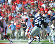 Ole Miss vs. Auburn quarterback Clint Moseley (15) at Vaught-Hemingway Stadium in Oxford, Miss. on Saturday, October 13, 2012. (AP Photo/Oxford Eagle, Bruce Newman)..