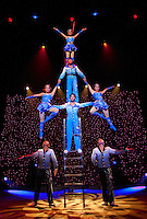 The Ladder routine during the BAI XI Chinese Circus opening at The New Victory Theater in New York. ...Photo by Robert Caplin.
