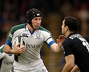 Wycombe, ENGLAND, Olivier Magne hands off Jeremy Stauton,  London Wasps vs London Irish  Guinness Premiership Rugby, at the, Causeway Stadium, © Peter Spurrier/Intersport-images.com,  / Mobile +44 [0] 7973 819 551 / email images@intersport-images.com.