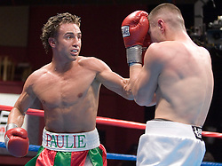 February 10, 2006 - Mashantucket, CT - Junior Welterweights Paulie Malignaggi (l) and Donald Camarena (r) trade punches during their 10 round junior welterweight bout at the Fox Arena in the Foxwoods Hotel & Casino.  Malignaggi remained undefeated with a unanimous decision win.