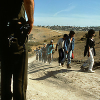 Aug 08, 1997 - Border, California, USA - MEXICO - Operation Gatekeeper - Illegal Immigration