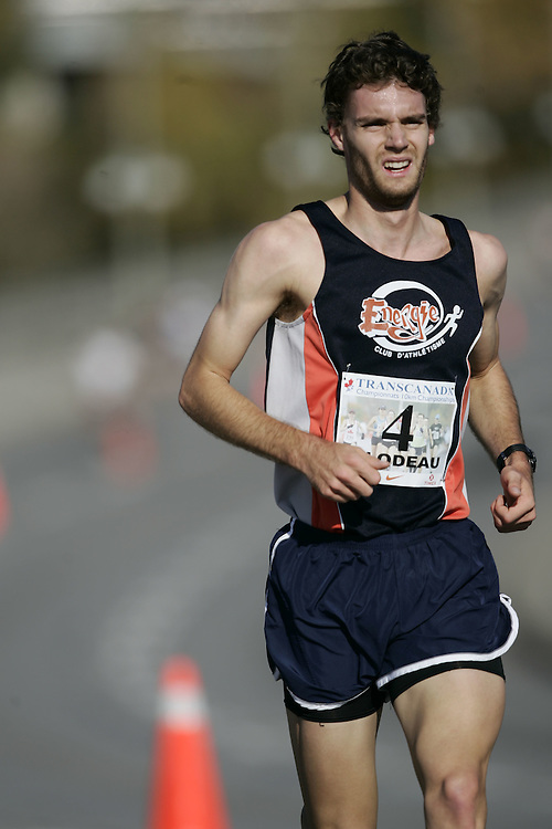 (Ottawa, ON---18 October 2008) MATHIEU BILODEAU competes in the 2008 TransCanada 10km Canadian Road Race Championships. Photograph copyright Geoff Robins/Mundo Sport Images (www.msievents.com).