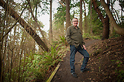 2015 February 11 - Seattle City Council District 1 candidate Dave Montoure. Photographed at Lincoln Park, West Seattle, WA, USA. By Richard Walker