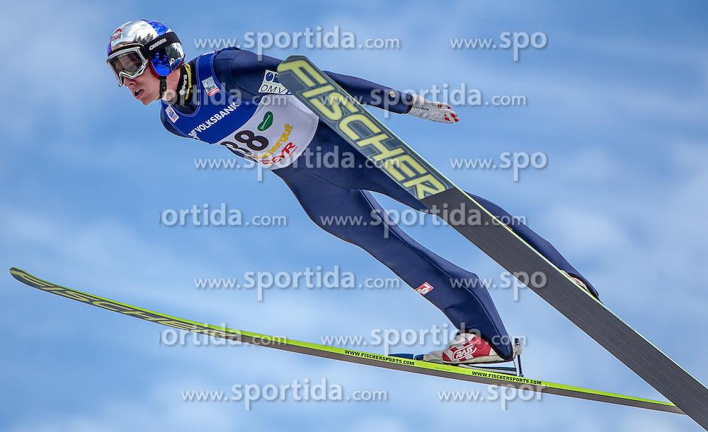 11.01.2014, Kulm, Bad Mitterndorf, AUT, FIS Ski Flug Weltcup, Bewerb, im Bild Gregor Schlierenzauer (AUT) // Gregor Schlierenzauer (AUT) during the FIS Ski Flying World Cup at the Kulm, Bad Mitterndorf, Austria on <br /> 2014/01/11, EXPA Pictures &copy; 2014, PhotoCredit: EXPA/ JFK