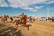 Fort Belknap Indian Reservation, Milk River Memorial Horse Races, Painted Horse Relay, Cory Fortin, second place, start