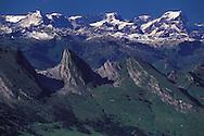 Churfirsten, View from Mount Saentis, Swiss Alps, Appenzell Canton, Switzerland