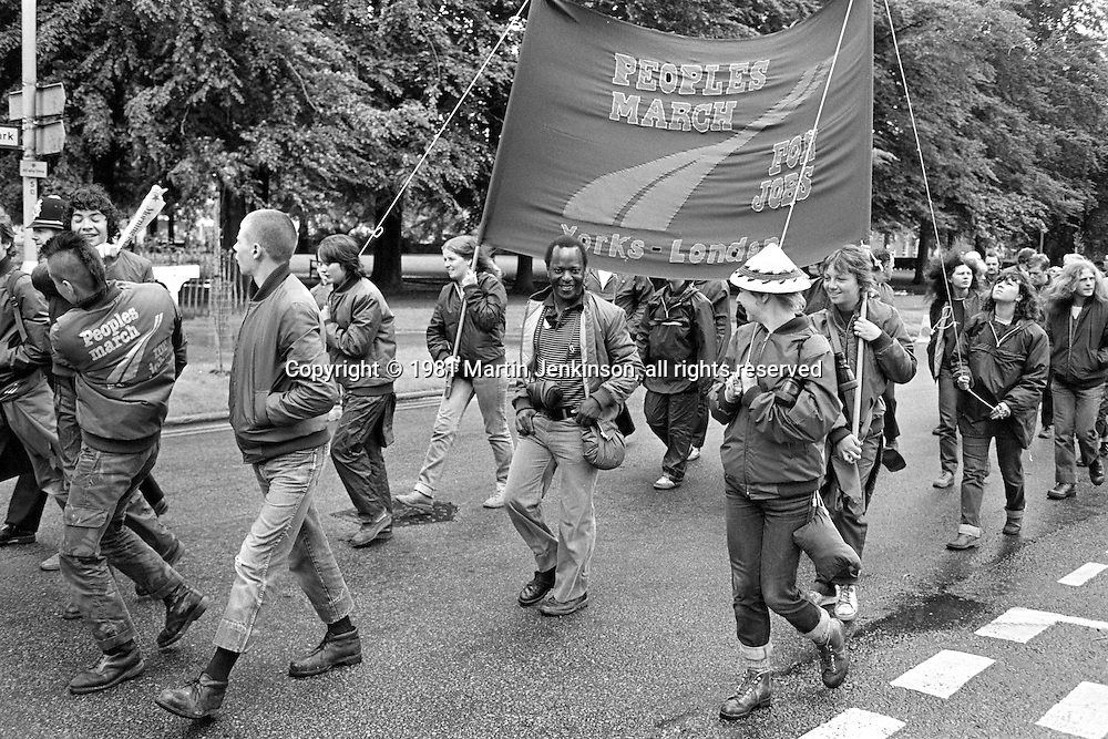 People's  March for Jobs, Yorkshire and Liverpool to London. Letchworth 25/05/1981