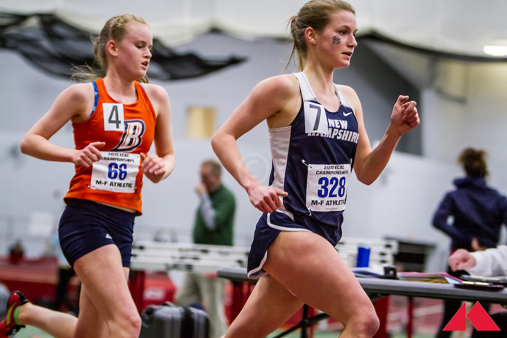ECAC Indoor Champs, womens 5000, Short, Amber              JR New Hampshire