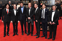 Cast of Sunny Afternoon attend The Laurence Olivier Awards at The Royal Opera House, Covent Gardens, London on Sunday 12 April 2015