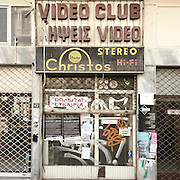 A closed down video club in Filippou Str, Thessaloniki