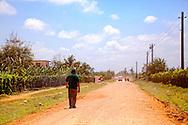 Country road near Velasco, Holguin, Cuba.