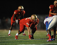 Lafayette High's Eli Johnson (75) vs. Memphis University School in Oxford, Miss. on Friday, September 27, 2013. MUS won.