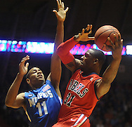 Mississisppi's Murphy Holloway (31) is defended by Memphis' Wesley Witherspoon (11) during an NIT game in Oxford, Miss. on Friday, March 19, 2010.