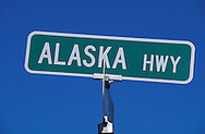 Alaska Highway sign, Alaska, USA