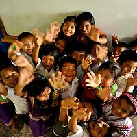 Indigenous children at school at a Ngo?be Bugle? Community. Chiriqui. Panama.